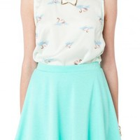 Patrice Skirt in Mint - ShopSosie.com