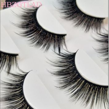 Handmade Thick False Eyelashes Cross 3D Multilayer Premium Fibers 0.07 Natural Fake Eyelashes Stage Show Makeup Art Eye Lashes