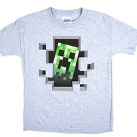 Jinx Official Licensed Minecraft Creeper Inside boys T-shirt