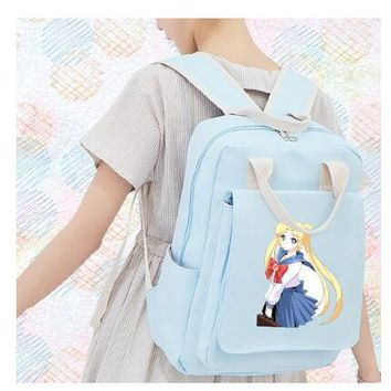 High Quality Card Captor SAKURA Printing Backpack Canvas School Bags Lolita Women Backpack Mochila Feminina