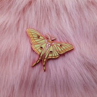 Moon Moth Enamel Pin