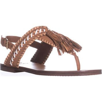 Vince Camuto Rebeka Flat Sandals, Whiskey Barrel Combo, 6.5 US / 36.5 EU