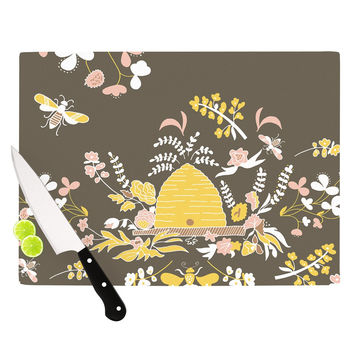 "Very Sarie ""Hope for the Flowers II"" Yellow Brown Cutting Board"