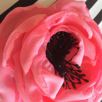 Wedding big pink English rose corsage sash soft fabric flower romantic fresh spring bride prom pageant photo shoot Mother's Day present