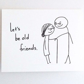 Funny Love Card For Girlfriend Romantic Birthday Card For Him Best Friend Cute Valentine Card For Boyfriend Lets Be Old Friends