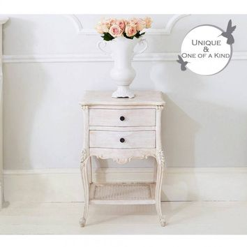 Vignette White-Washed Bedside Table | Bedside Table