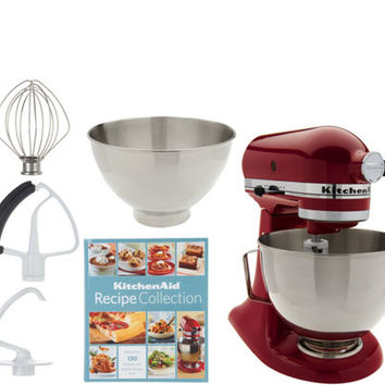 KitchenAid 4.5qt. 300W Tilt Head Stand Mixer with 3qt. Bowl — QVC.com