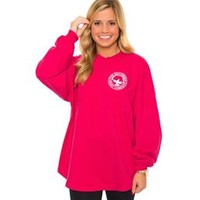 Southern Shirt Company Crew Neck Jersey Pullover in Ultra Rose