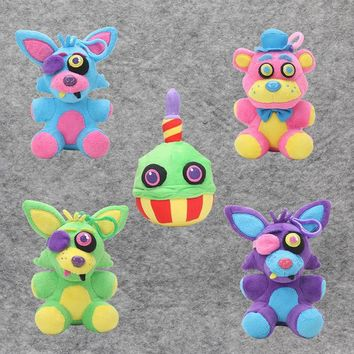 Plush toys Black light toy  At  Blacklight Freddy Neon Foxy Neon Cupcake Neon Collectible Toy Dolls