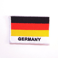 Germany Flag Medium Iron on Patch, embroidery