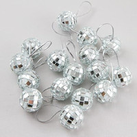 "Mini 7/8"" Mirrored ""Disco Ball"" Ornaments - Total of 32 (2 Packages of 16)"