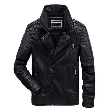 Elegant Cool Biker Thick Leather Jacket