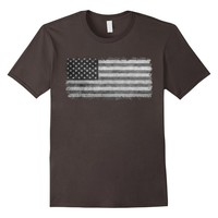 "Official ""LoneStar Designs"" Grayscale American Flag T-Shirt"