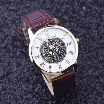 Luxury Casual steel Men's Watch, Business, Imitate,  Mechanical Watch