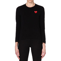 COMME DES GARCONS PLAY Heart motif long-sleeve top