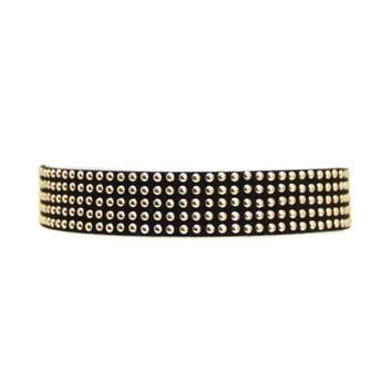 Bling Choker in Black and Gold