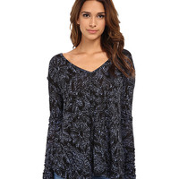 Free People Printed Sahara Top Black Combo - 6pm.com