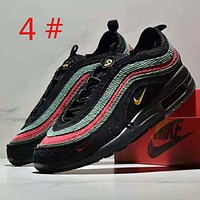 NIKE Air Max Sean Wotherspoon 97 New fashion embroidery hook colorful contrast color sports leisure men shoes