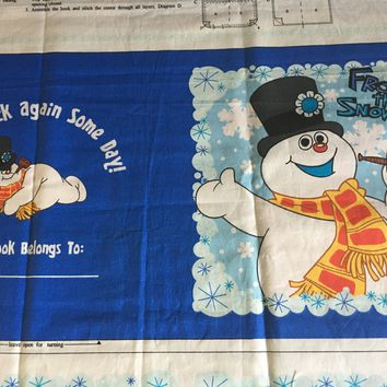 Frosty the Snowman - Storybook fabric panel from VIP Cranston