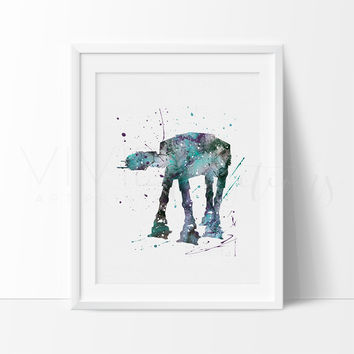 AT-AT Walker Watercolor Art Print