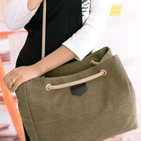 Canvas Casual Shoulder Bag