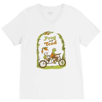 frog & toad V-Neck Tee