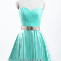 Stock Short Net Sweetheart Homecoming Formal Prom Party Cocktail Evening Dresses