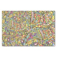 Colorful Abstract Doodle Fantasies Pattern Tissue Paper