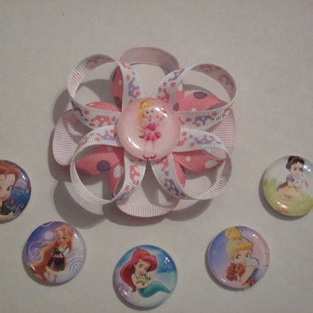 Hairbow Princess Babies Aurora, Cinderella, Snow White, Tangled And Ariel By Sweetpeas Bows & More