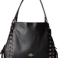 ONETOW COACH Womens Edie Shoulder Bag 31 With Coach Link Detail