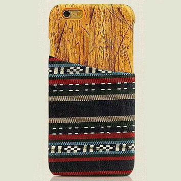 Ethnic Style Geometry iPhone 6 6s Plus Case Handmade Cloth Cover Gift-172