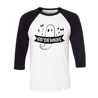 Boo You Whore (Black) Baseball Tee