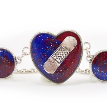 CHD Bandaid Awareness Bracelet