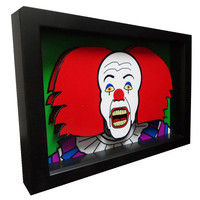 Stephen King Movie Art IT Pennwise Clown 3D Pop Art Horror Artwork