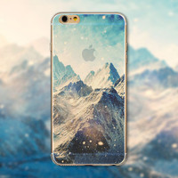 Big Snowy Mountains Tourism Scenery iPhone 5 5S iPhone 6 6S Plus creative case + Nice Gift Box -125