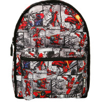 Marvel Deadpool Mask Comic Reversible Backpack