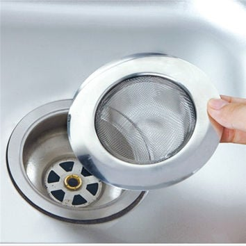 Stainless Steel Bathtub Hair Catcher Stopper Shower Drain Hole Filter Trap Metal Sink Strainer