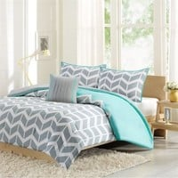 Intelligent Design Nadia Comforter And Decorative Pillow Set Teal FullQueen