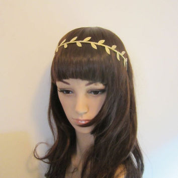 25% Off SALE Gold Laurel Leaf trim gold plated headband