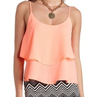 STRAPPY BACKLESS RUFFLE TANK TOP