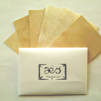 Handmade Paper Incense: Frankincense and Myrrh, Slow-Burning Paper Scented w/Natural Resins and Balms for Sigils, Inscriptions, etc