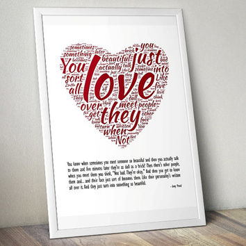 Amy loves Rory, Doctor Who - Printable Poster - Digital Art - Download and Print