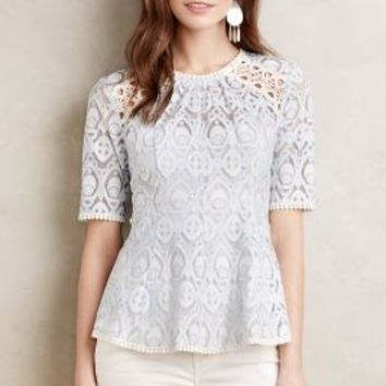 HD in Paris Signa Lace Top in Blue Motif Size:
