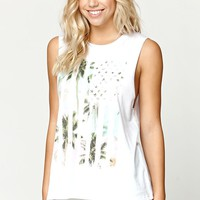 Billabong Flag Vacation Muscle Tank - Womens Tee - White