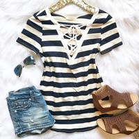 Blissful Days Striped Top