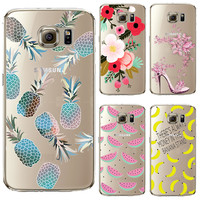 Soft TPU Cover For Samsung Galaxy S6 S7 A3 J1 2017 Cases Phone Shell Newest Arrival Patterns Summer Sweet Fruit Green Pineapple