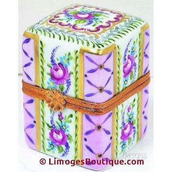 Lg Rect With 4 Perfume Limoges Boxes