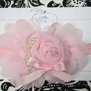 Light Pink Bow, Light Pink Baby Headband, Light Pink Bow, Baby Headband, Light Pink, Pink, Baby Headband