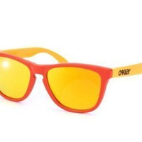 New Oakley 24-359 Frogskins sunglasses Aquatique Hotspot Fire Frog red yellow