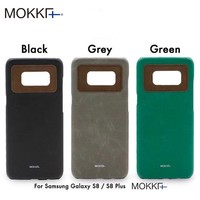 MOKKA Luxury PU Leather Case for Samsung Galaxy S8 plus S8Plus Colorful Back Cover Fashion Color Protection Mobile Phone Shell